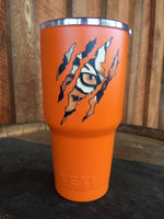 Yeti Rambler 30 oz Custom Tiger Eye Claw Scratch