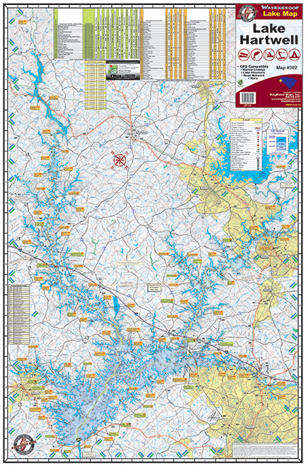 Kingfisher Maps Lake Hartwell