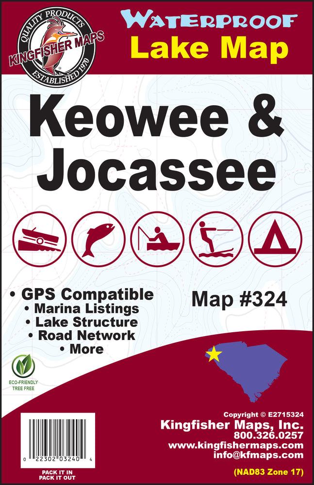Kingfisher Maps Lakes Keowee & Jocasse