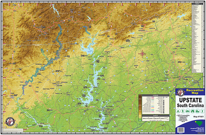 Kingfisher Maps Upstate SC