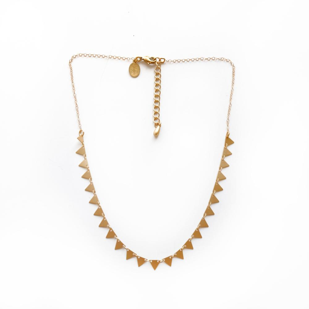 Larissa Loden Candra Necklace in Triangles
