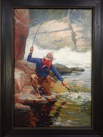 "Madison Bay Company ""Trout Fishing"" Painting"