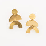 INK+ALLOY Matte Brass Half Circle Earrings