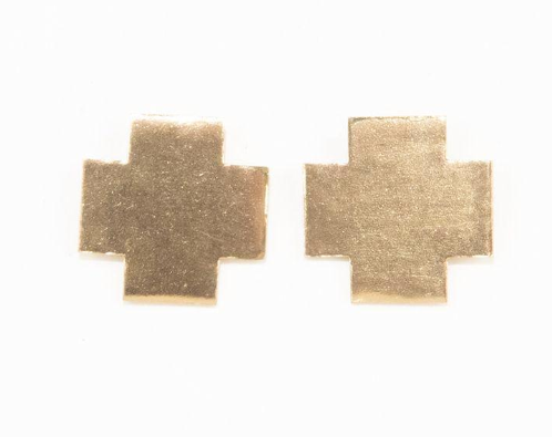 INK+ALLOY Solid Small Cross Earrings