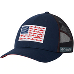 Columbia PFG Mesh Snap Back Fish Flag Ball Cap