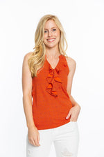 Women's Pattern Ruffle Shirt