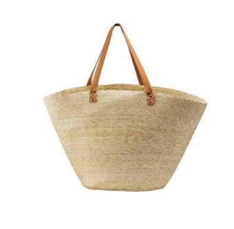 San Diego Hat Co. Home Palm Straw Carry All Basket