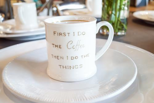 Coffee Quote Stoneware Mug