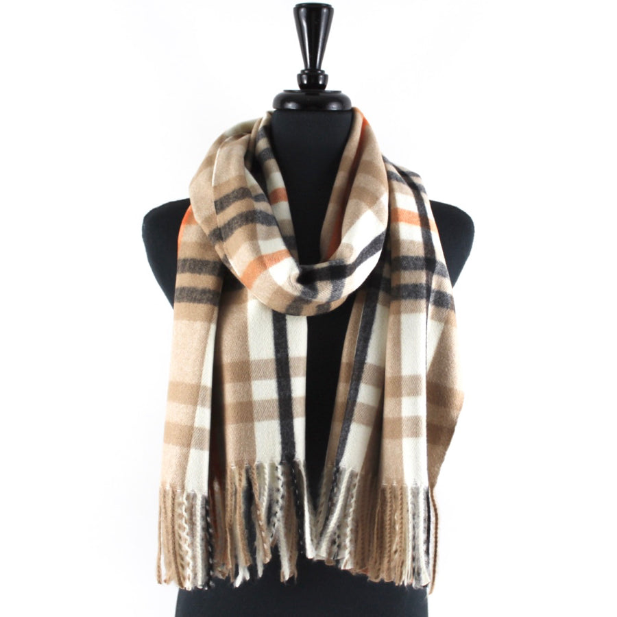 Women's Plaid Blanket Scarves