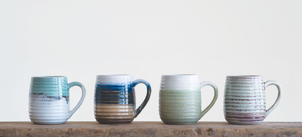 Assorted Stoneware Mugs