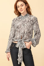 Brooklyn Front Tie Blouse