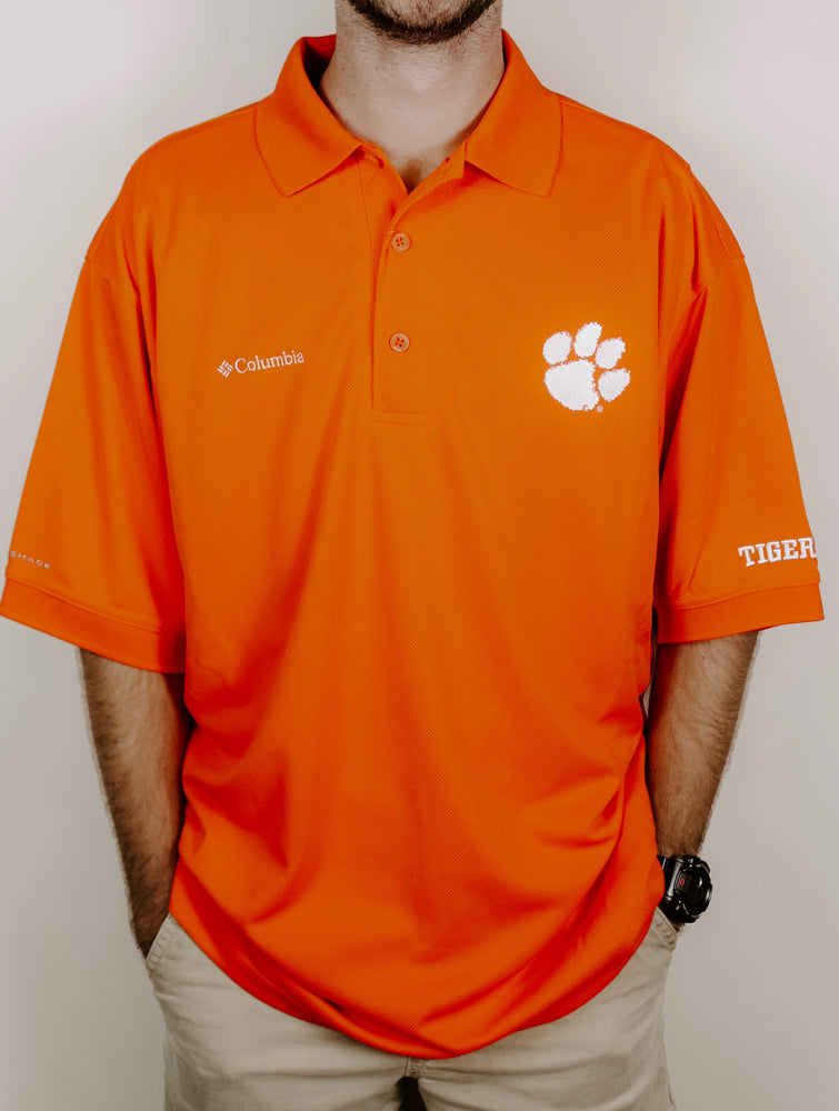 Columbia Men's Clemson Collegiate Perfect Cast Polo Shirt