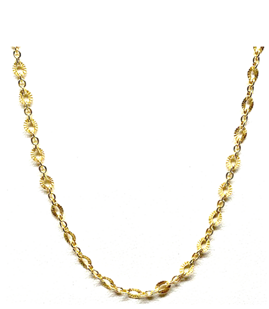 Athena Designs Textured Chain Necklace