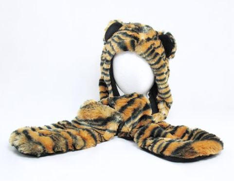 Wishpets Tiger Hat with Mittens