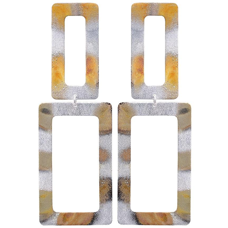 Sheila Fajl Double Rectangle Earrings