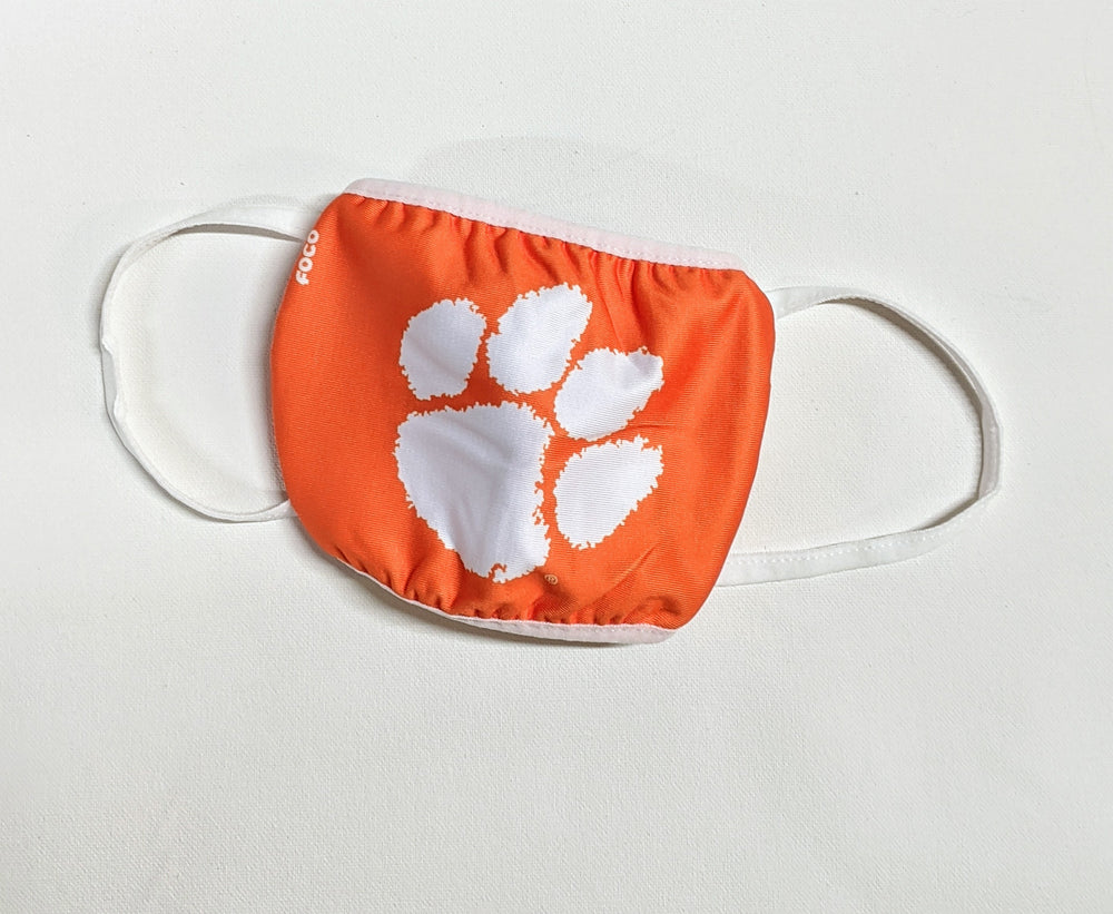 Clemson Tigers Face Mask with White Paw