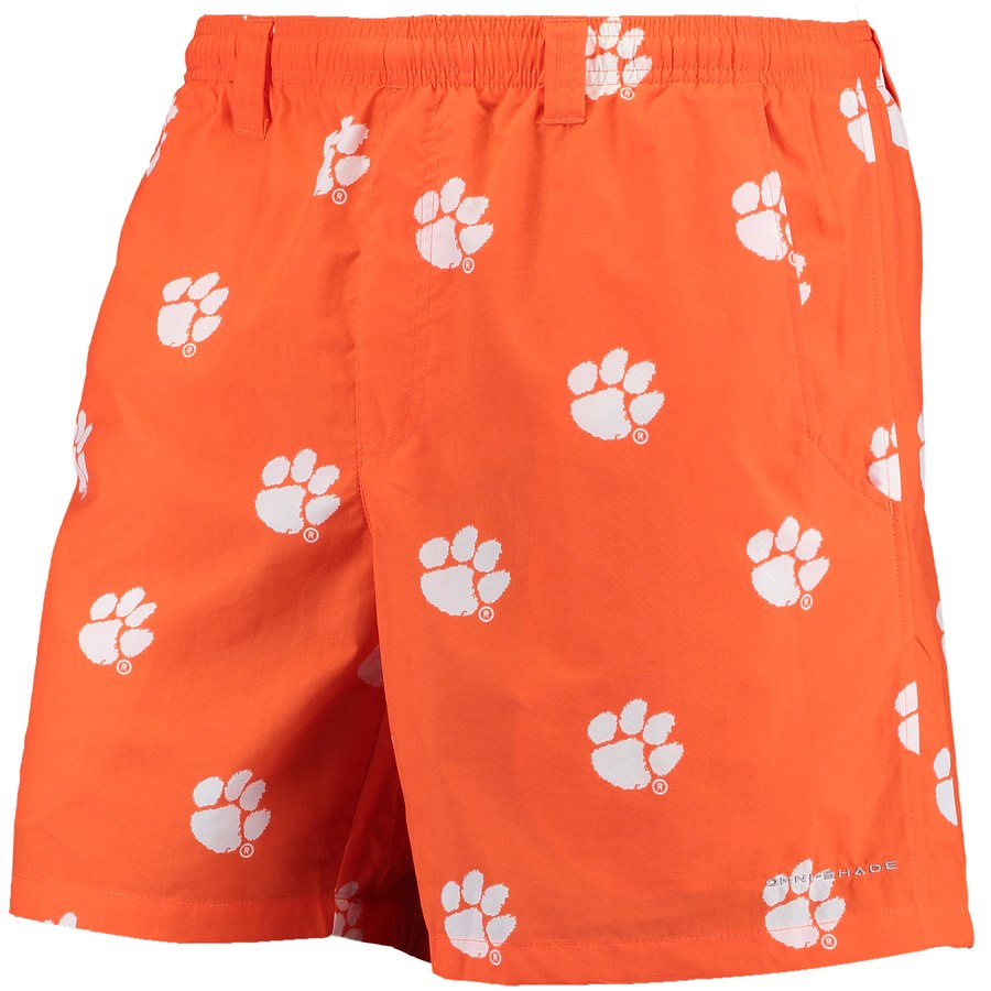 Columbia Men's Clemson Collegiate Backcast II Printed Short