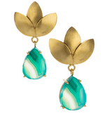 Abbott Gold Leaf Drop Earrings