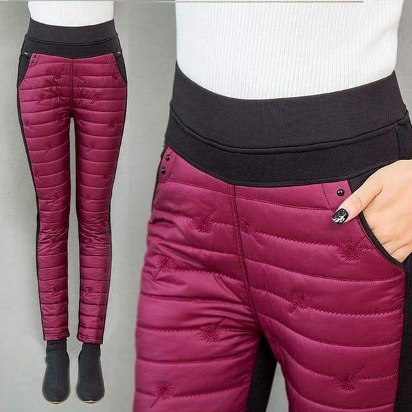 ThermoPants - High Waist Winter Down Pants