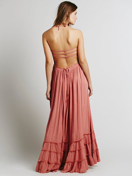 Sexy Bohemian Dress Long Backless Summer