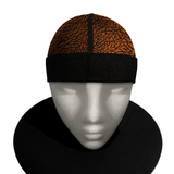 ORANGE 23  silky compression cap (deluxe wrapped band)