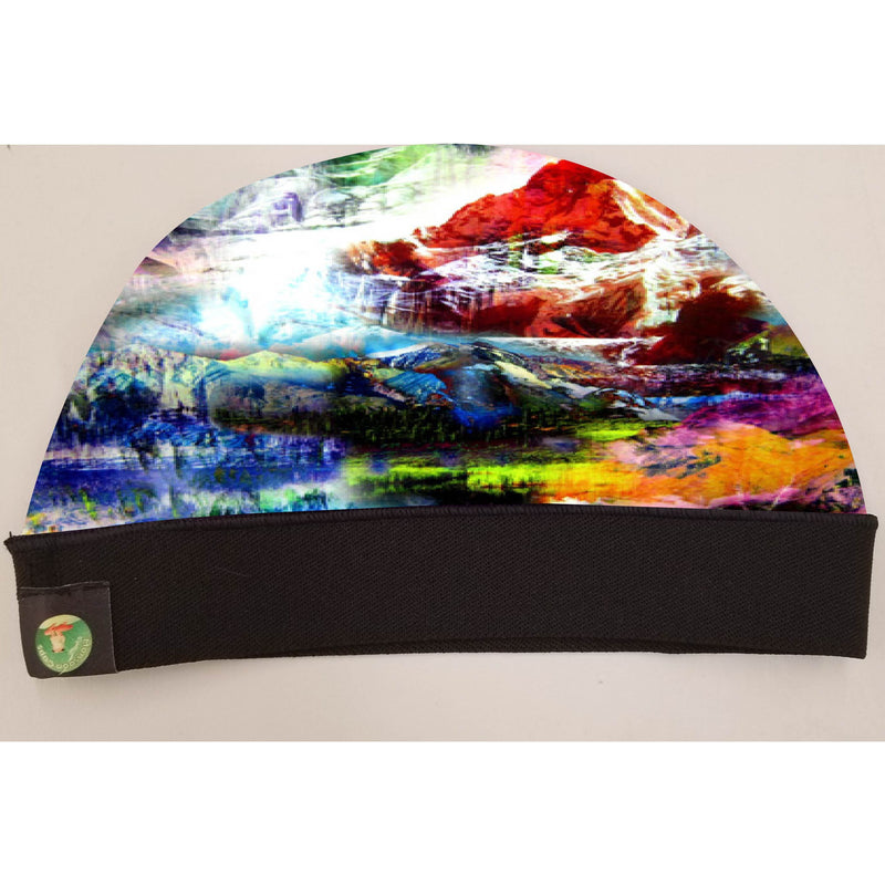 SMOKE ABSTRACT CAP SILKYYY AND STRETCHY COMFORTABLE. WAVE CAP.