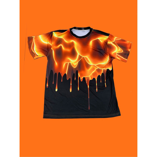 THE FLOOR IS LAVA(DRIP WAY). DRYFIT MONSOON TSHIRT. AIRY/DURABLE/COMFORTABLE.