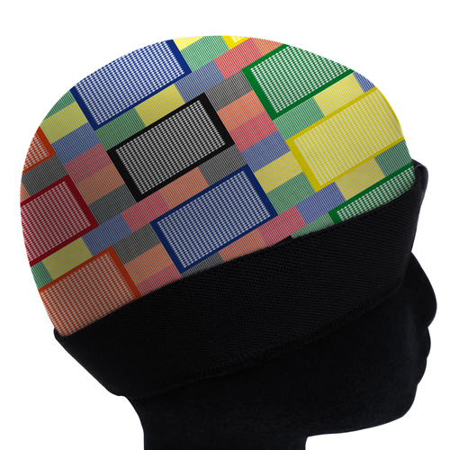 TECHNICOLOR HOUNDSTOOTH silky compression cap