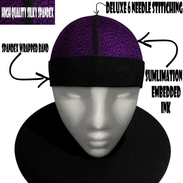 PURPLE 23  silky compression cap (deluxe wrapped band)