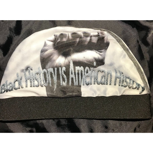 BLACK HISTORY IS OUR HISTORY.SILKY AND STRETCHY COMFORTABLE. WAVE CAP.