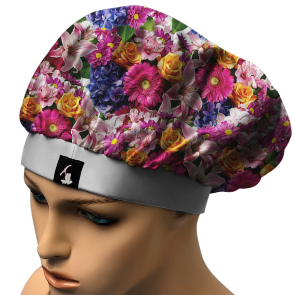 BOCQUET  BONNET.COMFORTABLE, STAYS ON AT NIGHT. SATIN BLEND