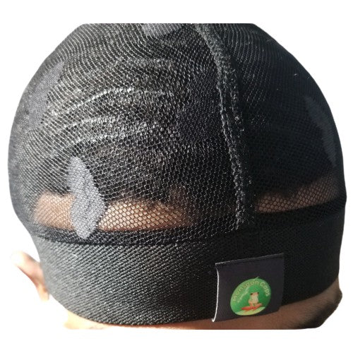 BLACK HEART MESH CAP.