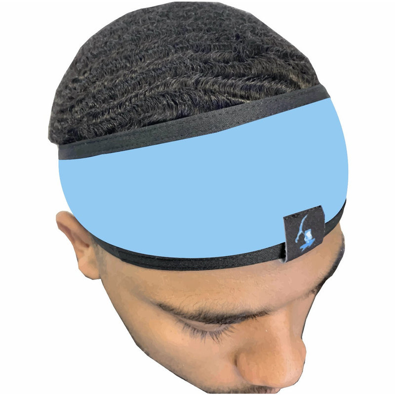 BABY BLUE Silky HEAD BAND. (SHIPS OUT SAME DAY)