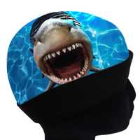 WAVYYYYY SHARKKK ICE COMPRESSION CAP.