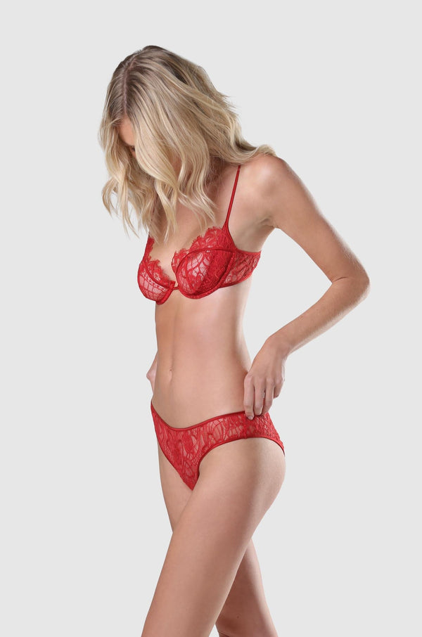 Coquette Demi Bra Red