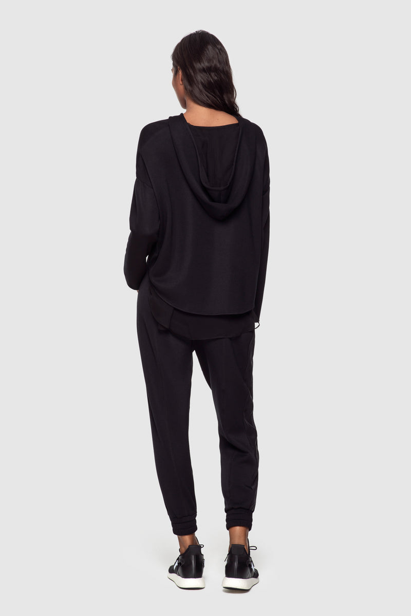 Athleisure Zip-up Hoodie Black - Kiki de Montparnasse