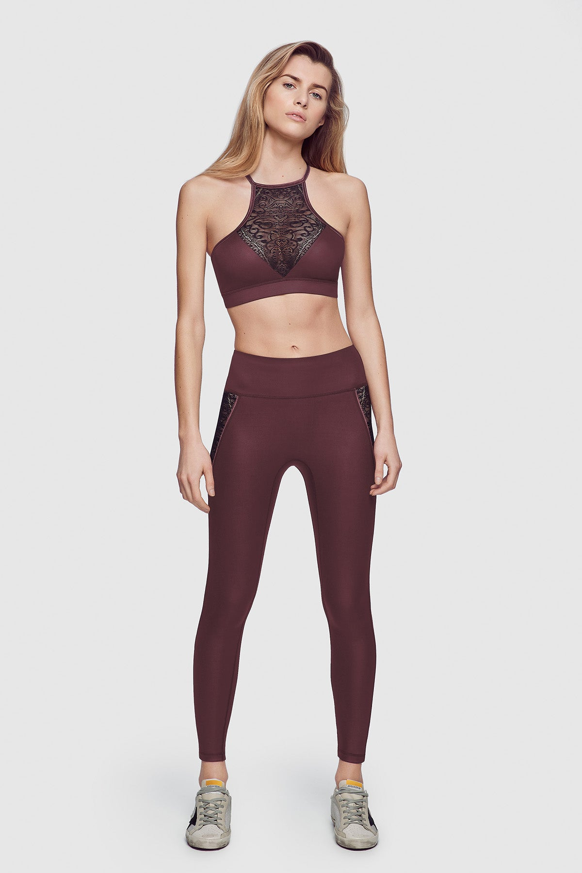 Athleisure Bra Top Burgundy