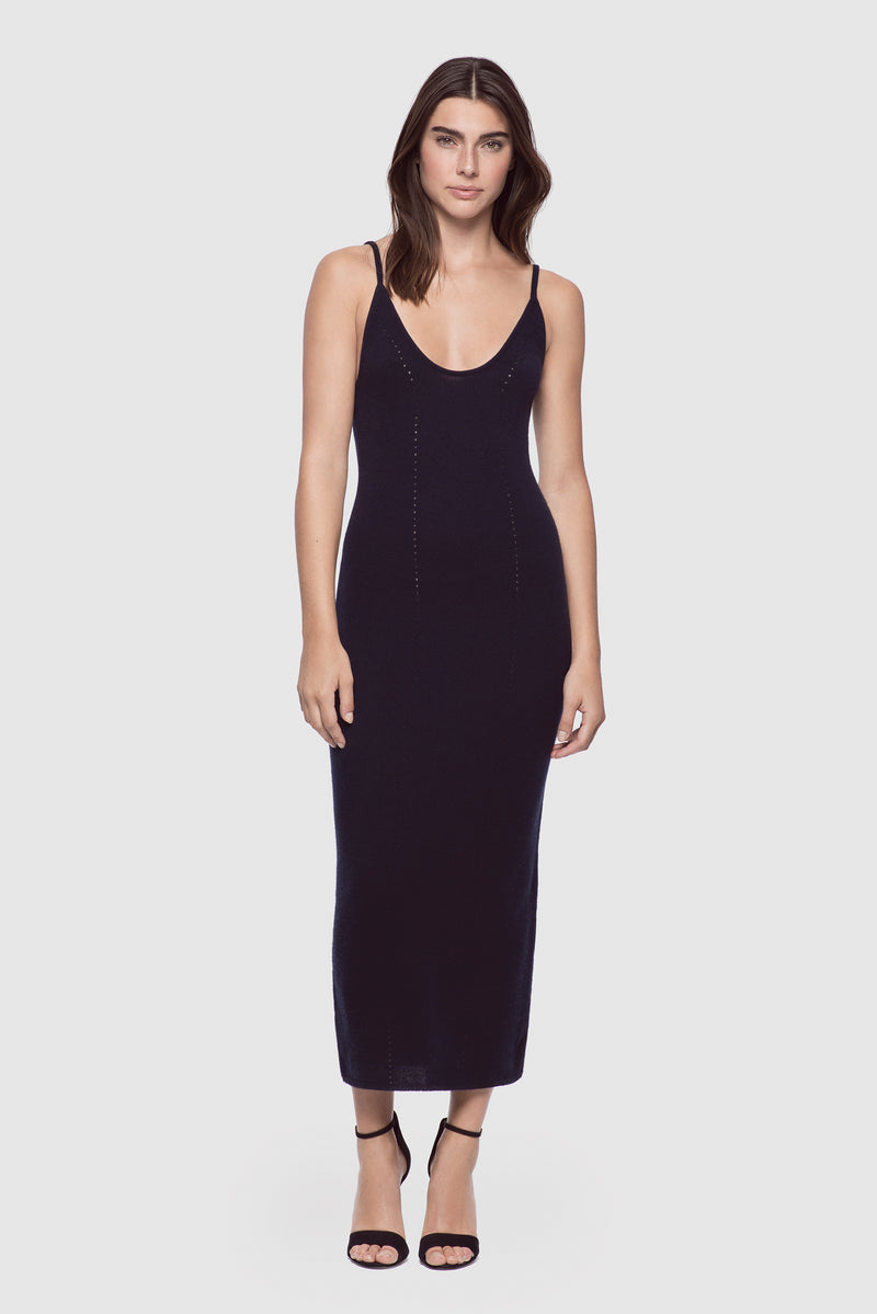 Cashmere Tank Dress Midnight - Kiki de Montparnasse