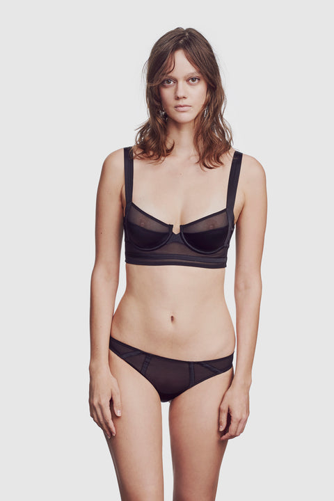 Expose Longline Bra Black