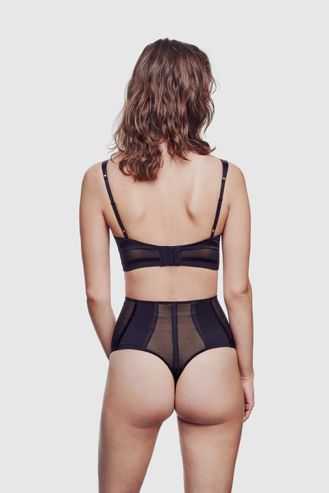 Expose High Waisted Thong Black - Kiki de Montparnasse