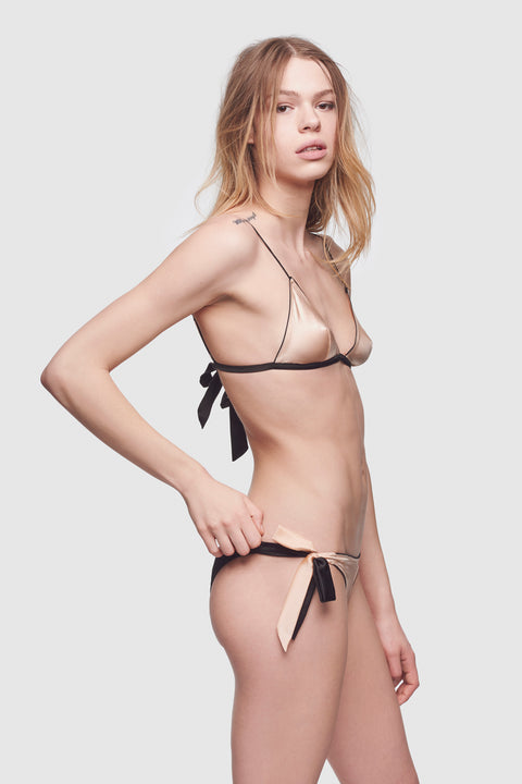 Amour Tie Brief Black/Nude