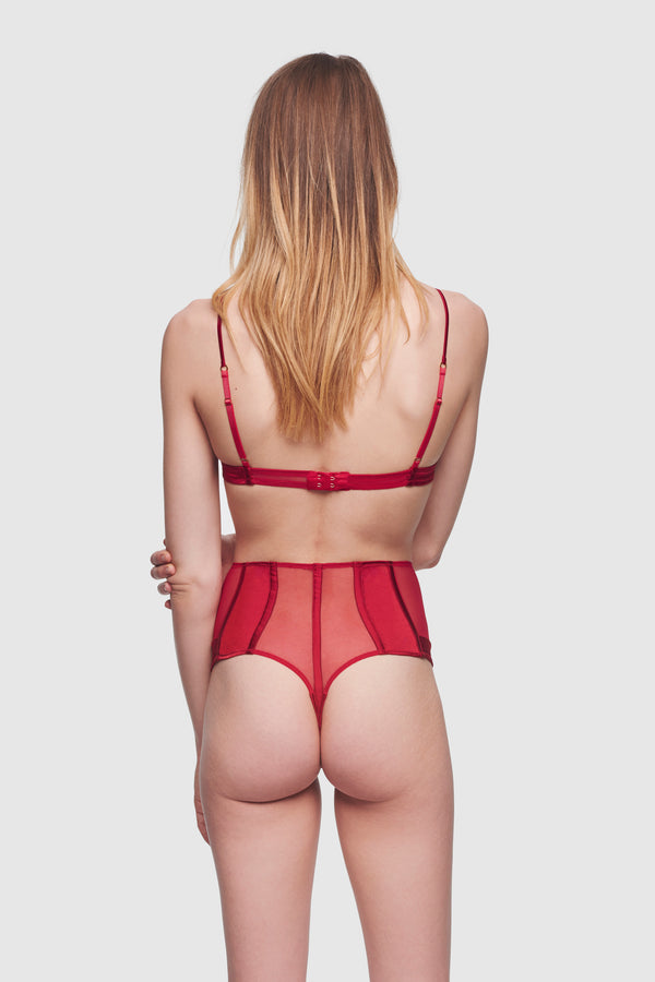 Expose High Waisted Thong Classic Red - Kiki de Montparnasse