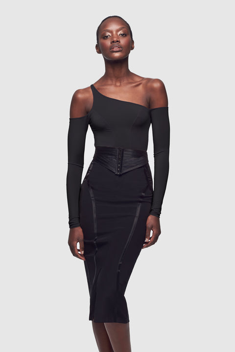 Cut Out Long Sleeve Top Black - Kiki de Montparnasse
