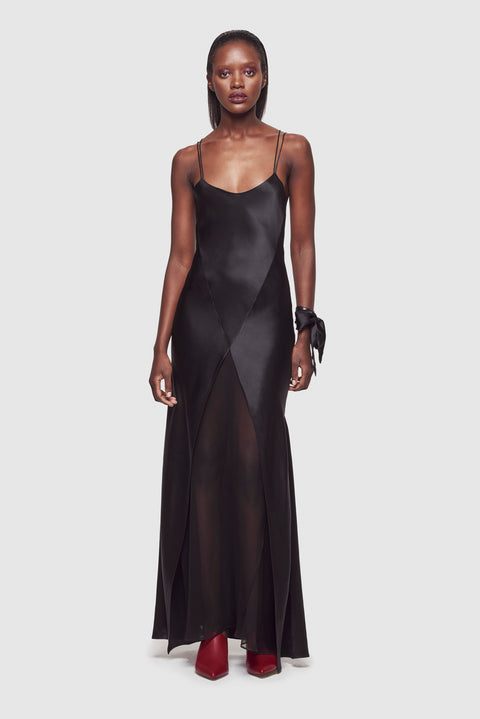 Cage Bias Gown Black