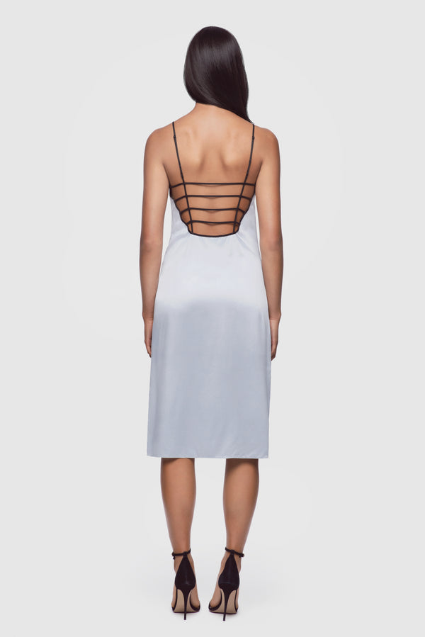 Harness Slip Dress Powder Blue - Kiki de Montparnasse
