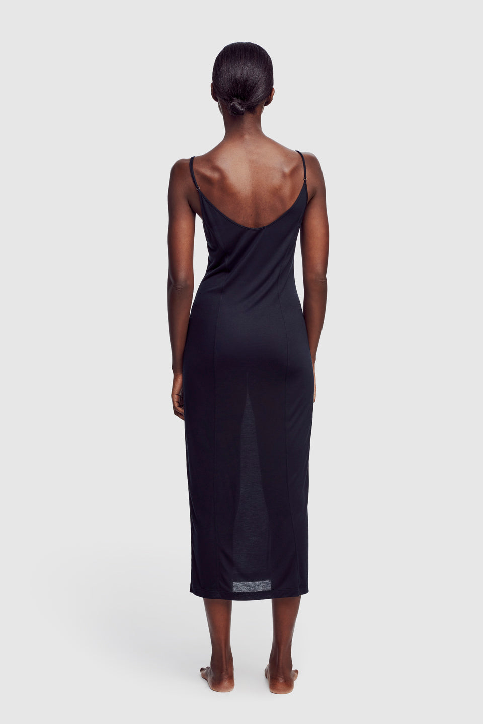 Intime Long Slip Dress Black - Kiki de Montparnasse