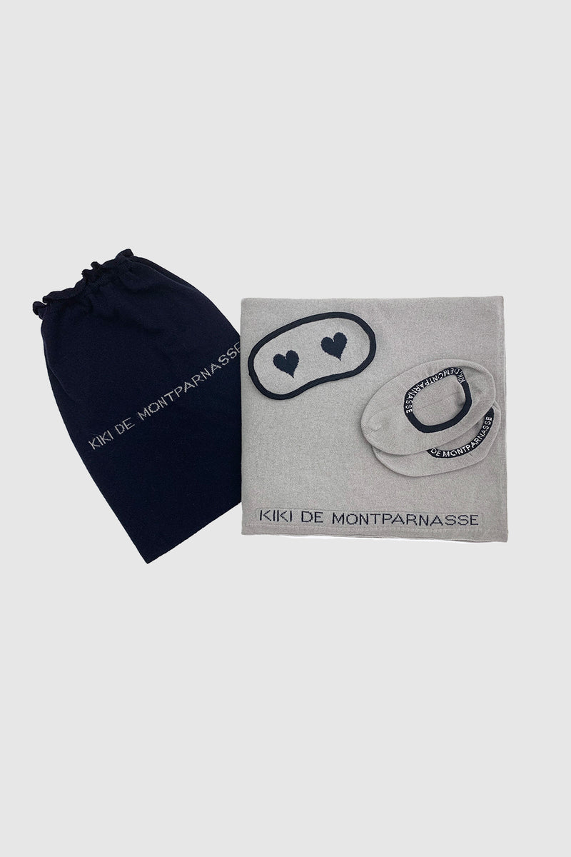 Cashmere Travel Set Grey/Midnight - Kiki de Montparnasse