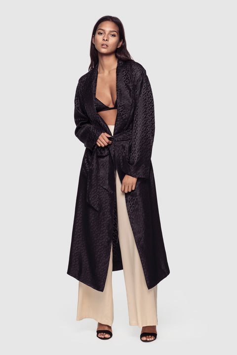 Logomania Robe in Black - Kiki de Montparnasse