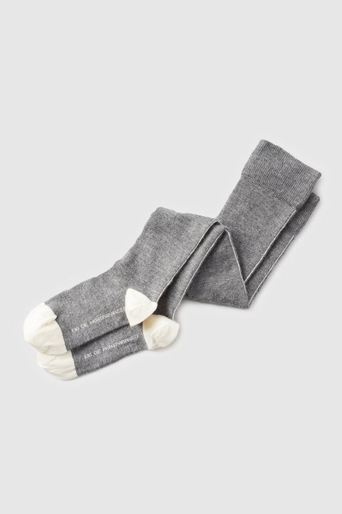 Luxe Seamed Socks Heather Grey/Ivory - Kiki de Montparnasse