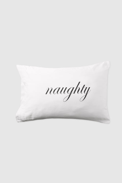 Naughty/Nice Pillow Case Set